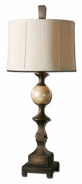 Uttermost 27390 Tusciano Transitional 38 Inch Tall Hand Rubbed Bronze Lighting Table Lamp
