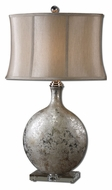 Uttermost 27428 Navelli Metallic Silver Ceramic 31 Inch Tall Table Top Lamp