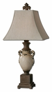 Uttermost 27437 Francavilla Distressed Ivory Ceramic Lamp - 36 Inches Tall