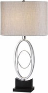 Uttermost 27532-1 Savant Modern Hand Forged, Polished Nickel Plated Table Lamp Lighting