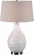 Uttermost 27534-1 Camellia Glossed White Table Lamp