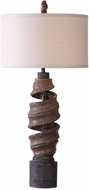 Uttermost 27541-1 Abrose Aged Rust Brown Twisted Table Lamp Lighting