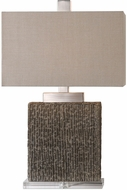 Uttermost 27555-1 Demetrio Taupe Wash / Burnished Distressing Table Light