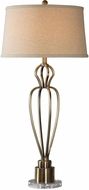 Uttermost 27560-1 Wallonia Antiqued Brass Lighting Table Lamp