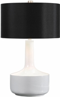 Uttermost 27566-1 Drenova Modern White Table Top Lamp