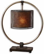 Uttermost 27649-1 Dalou Gray Patterned Table Lamp