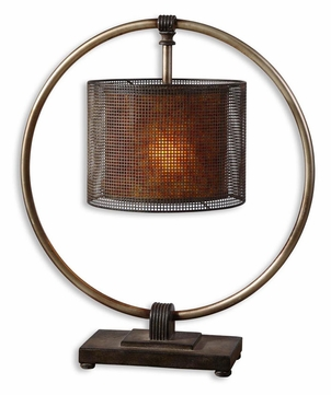 Uttermost 27649-1 Dalou 27 Inch Tall Dark Bronze Ring Hanging Table Light