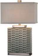Uttermost 27713-1 Virelles Sage Gray Ceramic Table Lamp Lighting