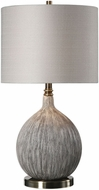 Uttermost 27715-1 Hedera Textured Ivory Table Top Lamp