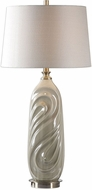 Uttermost 27717-1 Griseo Sage Gray Glaze With Antiqued Brass Plated Table Light