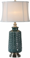 Uttermost 27719-1 Vallon Dark Blue-Green Table Lamp
