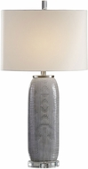 Uttermost 27750-1 Ravi Gray Patterned Table Top Lamp