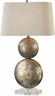 Uttermost 27758 Ordona Heavily Antiqued Metallic Silver Leaf Table Lighting