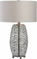 Uttermost 27768-1 Sinuous Natural Steel Finish Lighting Table Lamp