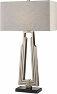 Uttermost 27770-1 Alvar Heavily Antiqued Nickel Plated Table Lamp Lighting