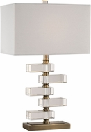 Uttermost 27787-1 Spilsby Stacked Crystal Block Table Top Lamp