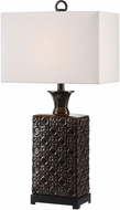 Uttermost 27803-1 Bertoia Metallic Bronze with Matte Black Table Lamp Lighting