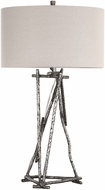 Uttermost 27825-1 Lakota Brushed Nickel Table Lamp Lighting