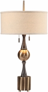 Uttermost 27834 Badru Antique Brass Table Light