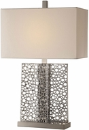 Uttermost 27865 Sicero Contemporary Metallic Polished Silver Lighting Table Lamp
