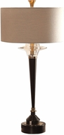 Uttermost 27867-1 Berton Aged Black Table Lamp Lighting