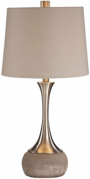 Uttermost 27875 Niah Plated Brushed Nickel Table Lamp Lighting