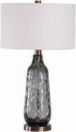 Uttermost 27906-1 Zena Translucent Blue Gray Table Top Lamp