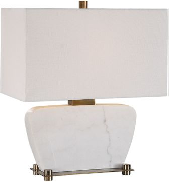 Uttermost 27910-1 Genessy White Marble Table Lamp