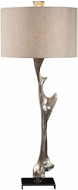 Uttermost 27929 Ophion Contemporary Heavily Antiqued Metallic Silver Table Lamp