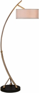 Uttermost 28089-1 Vardar Curved Brass Floor Lamp