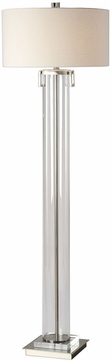 Uttermost 28160 Monette Contemporary Tall Cylinder Floor Lamp