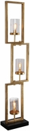 Uttermost 28189-1 Cielo Contemporary Lightly Antiqued Gold Leaf Floor Lamp Light