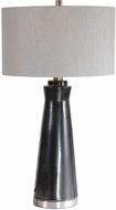 Uttermost 28207-1 Arlan Glossy Dark Charcoal Glaze / Brushed Nickel Table Lighting