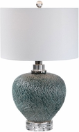 Uttermost 28208-1 Almera Dark Teal Table Top Lamp