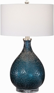 Uttermost 28209-1 Eline Blue Glass Side Table Lamp