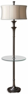 Uttermost 28235-1 Brazoria End Table Floor Lamp