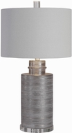 Uttermost 28263-1 Anitra Metallic Silver Leaf / Crystal / Brushed Nickel Lighting Table Lamp