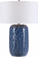 Uttermost 28274-1 Sedna Blue Ceramic / Brushed Nickel Table Light