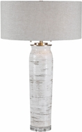 Uttermost 28275 Lenta Off-white With Rust And Brushed Nickel Side Table Lamp