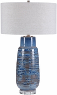 Uttermost 28276 Magellan Aged Indigo Blue With Dark Rust Bronze And Brushed Nickel Table Lamp