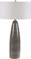 Uttermost 28280 Cosmo Rustic Black, Charcoal Gray, And White With Brushed Nickel Table Lamp Lighting