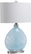 Uttermost 28281-1 Aquata Light Blue / Brushed Nickel Table Lighting