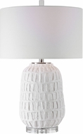 Uttermost 28283-1 Caelina Textured White Table Lamp