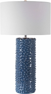 Uttermost 28285 Ciji Deep Indigo With Brushed Nickel And Crystal Side Table Lamp