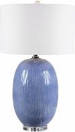 Uttermost 28286-1 Westerly Classic Blue / Polished Nickel Table Lamp Lighting