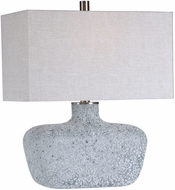 Uttermost 28295-1 Matisse Blue Green / Aged White / Brushed Nickel Side Table Lamp