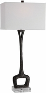 Uttermost 28297 Darbie Aged Black With Crystal Lighting Table Lamp