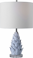 Uttermost 28331-1 Fera Crackled Light Blue / Rust Brown / Polished Nicke Table Lamp