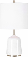 Uttermost 28332-1 Eloise White Marble with Gray / Brushed Brass Table Light