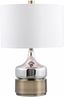Uttermost 28337-1 Como Modern Chrome Plated / Antique Brass Lighting Table Lamp